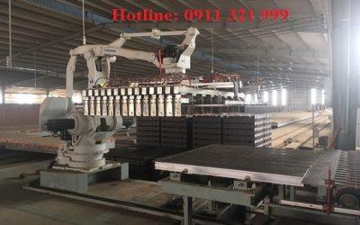 Bình Thuận: Hệ thống robot xếp gạch lên pallet số 02 chuẩn bị được lắp đặt