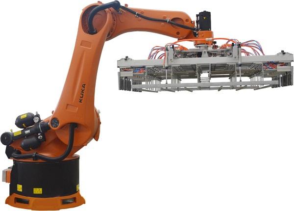 Robot xếp gạch kép Yaskawa 500kg tổ hợp