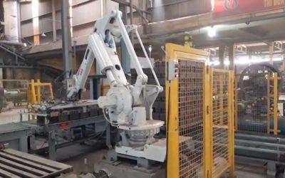 Robot xếp gạch tuynel cho lò vòng