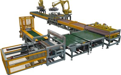 Hệ thống robot xếp gạch tự động hóa của Hiệp Sáng Việt Nam